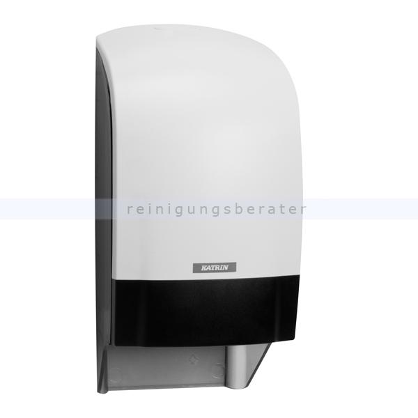KATRIN Toilettenpapierspender Inclusive Kunststoff weiß Systemtoilettenpapierspender ohne Hülsenfänger, für 2 Rollen 104582