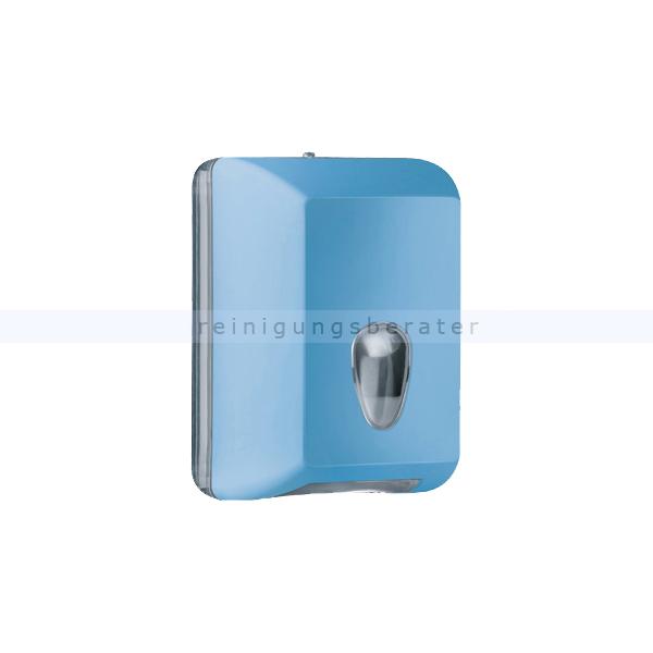 ReinigungsBerater MP622 Einzelblatt Toilettenpapierspender, blau Einzelblattsystem für ca. 350 Blätter Toilettenpapier A62201AZ