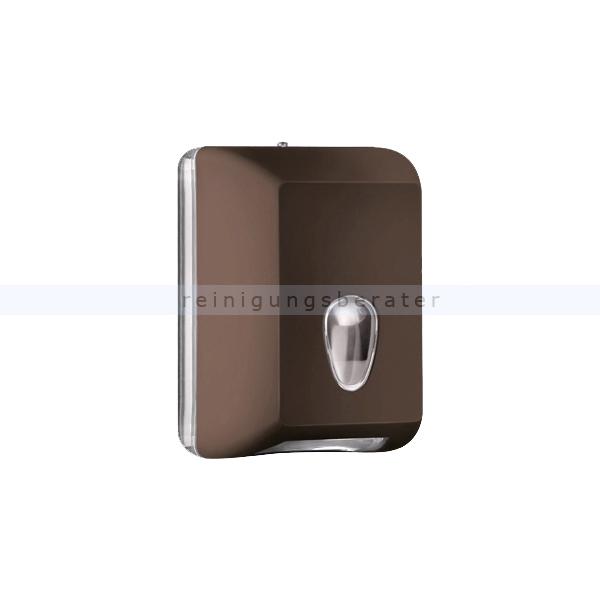 ReinigungsBerater MP622 Einzelblatt Toilettenpapierspender, braun Einzelblattsystem für ca. 350 Blätter Toilettenpapier A62201MA