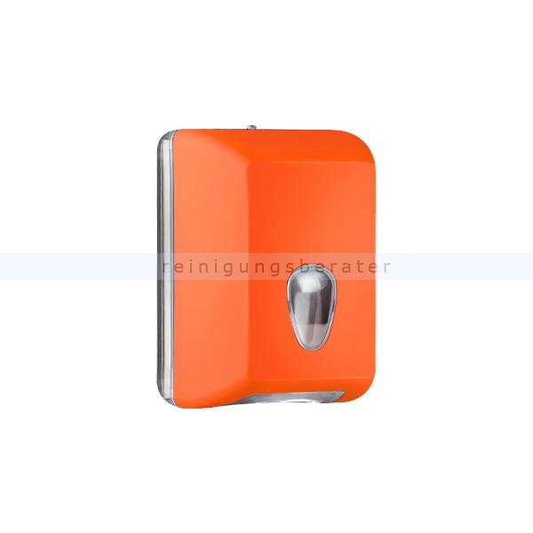ReinigungsBerater MP622 Einzelblatt Toilettenpapierspender, orange Einzelblattsystem für ca. 350 Blätter Toilettenpapier A62201AR
