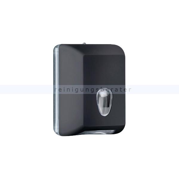 ReinigungsBerater MP622 Einzelblatt Toilettenpapierspender, schwarz Einzelblattsystem für ca. 350 Blätter Toilettenpapier A62201NE