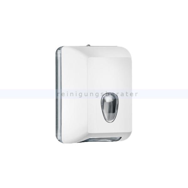 ReinigungsBerater MP622 Einzelblatt Toilettenpapierspender, weiß Einzelblattsystem für ca. 350 Blätter Toilettenpapier A62201BI