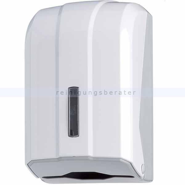 Toilettenpapierspender Orgavente WAVE Einzelblatt ABS weiß Einzelblattsystem für ca. 300 Blätter Toilettenpapier 908025