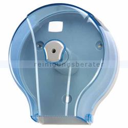 Toilettenpapierspender Orgavente WAVE transparent blau 200 m