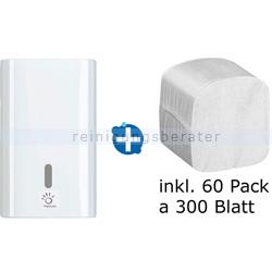 Toilettenpapierspender Papernet Falt-Toilettenpaier im Set