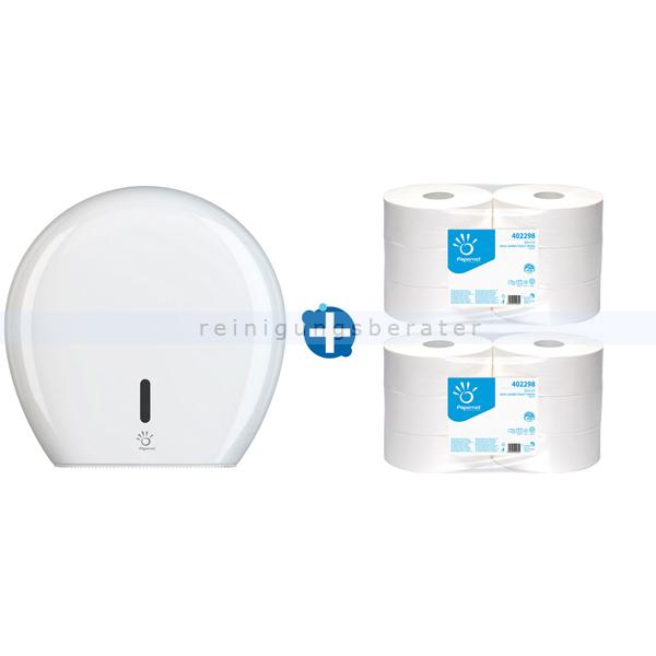 Toilettenpapierspender Papernet Maxi Jumbo im Set
