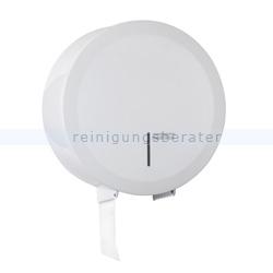 Toilettenpapierspender rund dreifach Stahlblech weiß