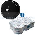 Toilettenpapierspender Set SmartOne Spender T8 schwarz