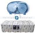 Toilettenpapierspender Set Tork Midi Spender blau