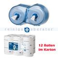 Toilettenpapierspender Set Tork SmartOne Spender blau