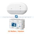 Toilettenpapierspender Set Tork SmartOne Spender weiß