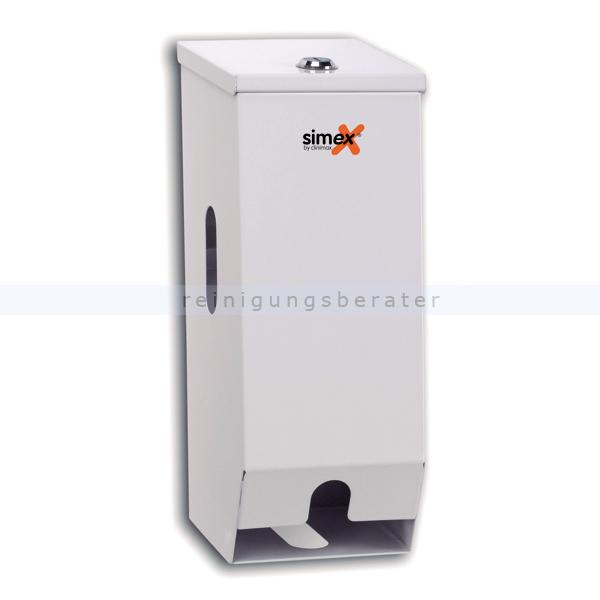 Toilettenpapierspender Simex Domestics Stahlblech weiß