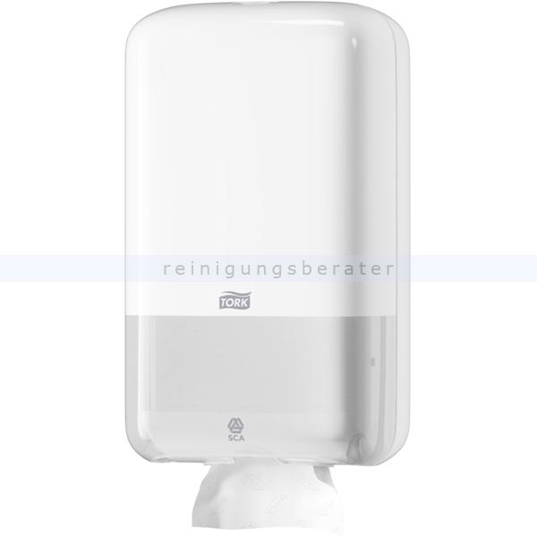 SCA Tork 556000 Toilettenpapier Einzelblatt Spender weiß für Einzelblatt Toilettenpapier im Elevation Design