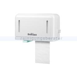 Toilettenpapierspender Wepa Doppelrollenspender weiß