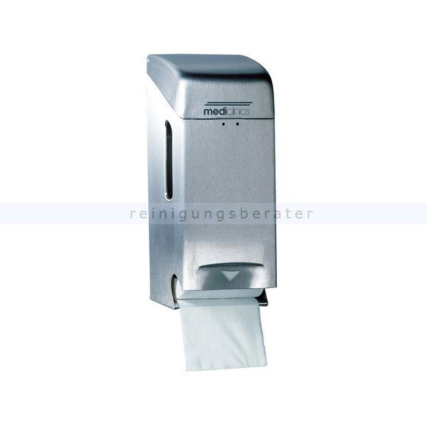 Toilettenpapierspender zweifach Edelstahl geschliffen
