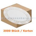 Tortenspitzen oval 19 x 26 cm weiß 2000 Stück