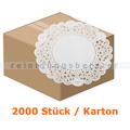 Tortenspitzen rund 14 cm weiß 2000 Stück