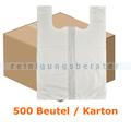 Tragetasche Abena T-Shirt Bags 56 x 76 cm weiß, Karton