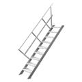 Treppenleiter Hymer stationär ohne Podest 6 Stufen 600 mm 45°