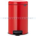 Treteimer Brabantia Tret-Mülleimer rot 12 L