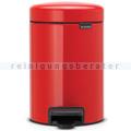 Treteimer Brabantia Tret-Mülleimer rot 3 L