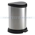 Treteimer Curver Decobin Tritt-Mülleimer silber-schwarz 20 L