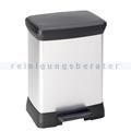 Treteimer Curver Decobin Tritt-Mülleimer silber-schwarz 30 L