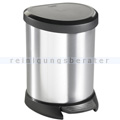 Treteimer Curver Decobin Tritt-Mülleimer silber-schwarz 5 L