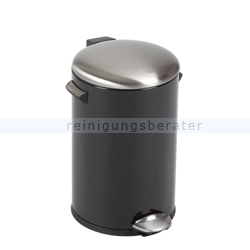 Treteimer EKO Belle Deluxe 12 L Schwarz matt Edelstahl