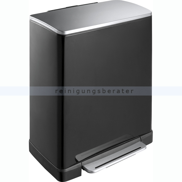 tretm lleimer eko e cube 50 l schwarz matt edelstahl. Black Bedroom Furniture Sets. Home Design Ideas