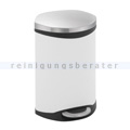 Treteimer EKO Shell Bin 10 L Weiß, Edelstahl matt