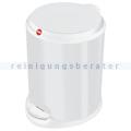 Treteimer Hailo Hailo T1 M Tret-Abfallsammler weiß 11 L