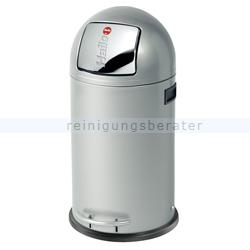 Treteimer Hailo KickMaxx® 35 L Stahl silber