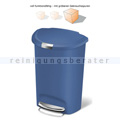 Treteimer halbrund Simplehuman 50 L Blau B-WARE