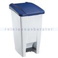 Treteimer Rossignol Mobily Kunststoff 60 L weiß/blau