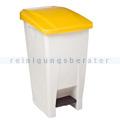 Treteimer Rossignol Mobily Kunststoff 60 L weiß/gelb