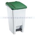 Treteimer Rossignol Mobily Kunststoff 60 L weiß/grün