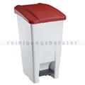 Treteimer Rossignol Mobily Kunststoff 60 L weiß/rot