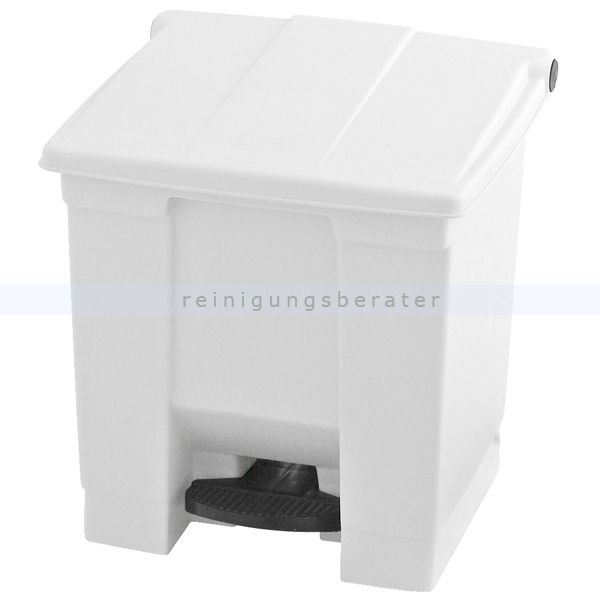 treteimer rubbermaid 30 l wei. Black Bedroom Furniture Sets. Home Design Ideas
