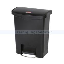 treteimer rubbermaid slim jim kunststoff schwarz 30 l. Black Bedroom Furniture Sets. Home Design Ideas