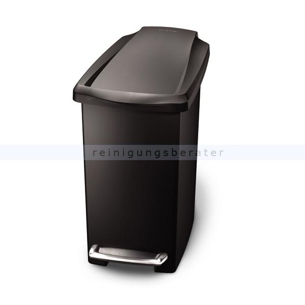 Treteimer schmal Simplehuman 10 L, schwarz
