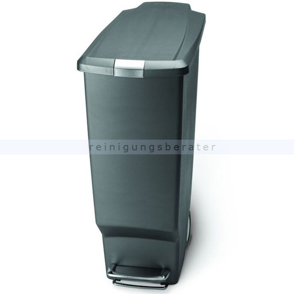 treteimer abfalleimer m llbeh lter simplehuman schmal 40 l. Black Bedroom Furniture Sets. Home Design Ideas