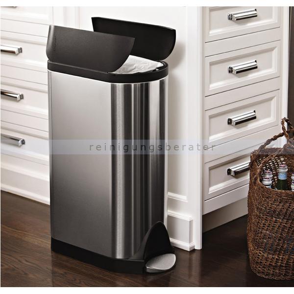 simplehuman treteimer 30 l geb rsteter edelstahl cw1956. Black Bedroom Furniture Sets. Home Design Ideas