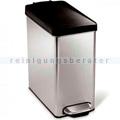 Treteimer Simplehuman mit Kunststoffdeckel schmal 10 L
