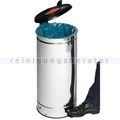 Treteimer VAR GVA Abfallsammler mit Fußpedal 66 L Edelstahl
