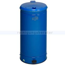 Treteimer VAR GVA Abfallsammler mit Fußpedal 66 L enzianblau