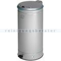 Treteimer VAR GVA Abfallsammler mit Fußpedal 66 L silber