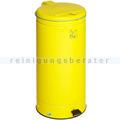 Treteimer VAR GVA Abfallsammler mit Fußpedal gelb 66 L