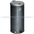 Treteimer VAR GVA Abfallsammler mit Fußpedal silber 66 L