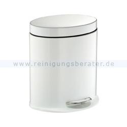 Treteimer Wesco 102 6 L weiß